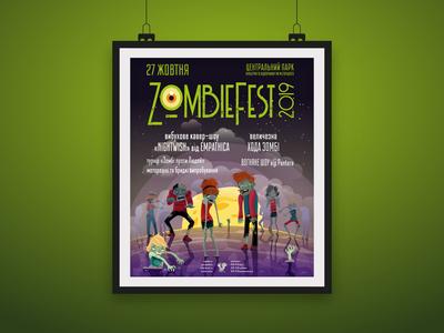 "Event poster ""Zombiefest"" for Amusement park"
