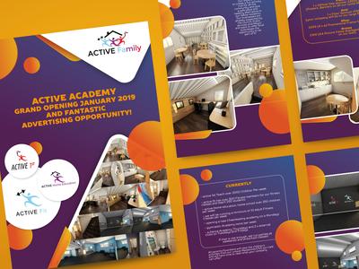 Brochure for children activity center