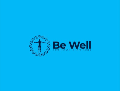 Be Well logo person man logo wellbeing health