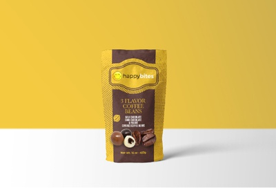 covered coffee beans pouch bag packaging