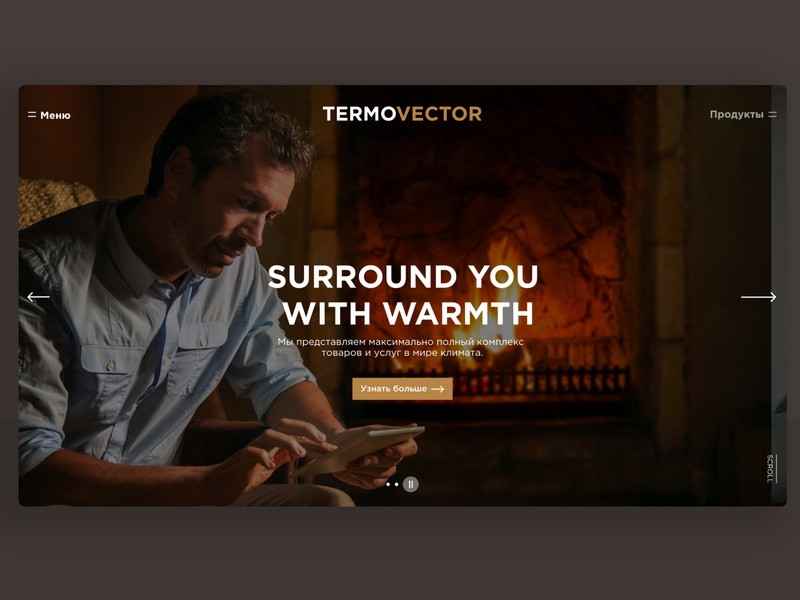 Termovector - Website (p2) ui ux app web website social app app animation ui  ux design uxdtechnologies interaction interface design design ui  ux feed icon minimal flat animation identity ios