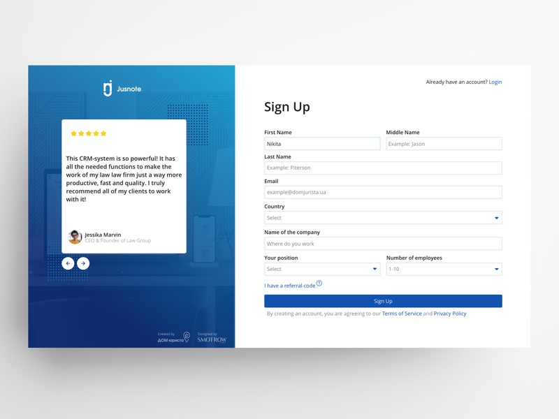 Login Page - UX/UI uidesign ui  ux uiux dashboard ui web interface design dashboad software crm design ui registration sign in sign up signup sign login screen login form login page login