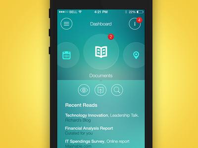 iPhone Dashborad UI Concept