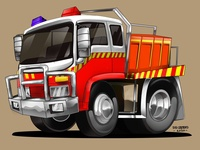 FIRE FIGHTER CAR CARTOON