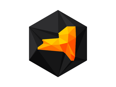 Create Upstate - NY Sticker sticker conference design upstate ny gray orange yellow hexagon