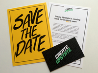 Create Upstate - Save The Date 2016