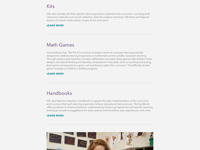 Connect4Learning Website metalsmith static responsive website typography atendesigngroup aten
