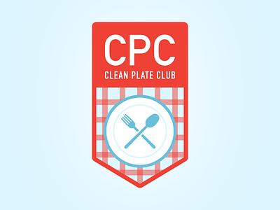 Clean Plate Club - A52-04K badge clean plate club food illustration aten52 challenge04 aten52 atendesigngroup aten