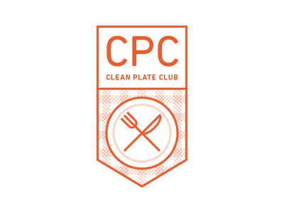 Clean Plate Club V2 - A52-04K aten atendesigngroup aten52 aten52 challenge04 illustration food clean plate club badge