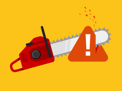 Chainsaws & Bug Reports error warning chainsaw illustration atendesigngroup aten