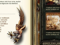 Fantasy website - character screen