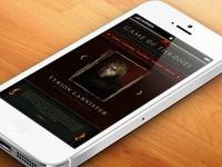 Game of Thrones mobile app. design (unofficial)