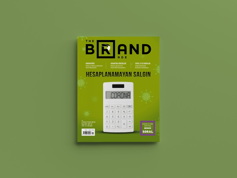 The Brand Age Magazine April Cover - Number 135 epidemic corona procreate illustrator illustration design magazine ad magazine design magazine cover magazine