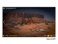 Daily UI #57 - Video Player