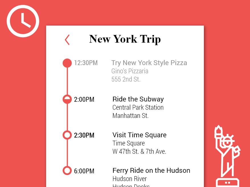 Daily UI #79 - Itinerary adobe xd website web app flat ui design dailyui