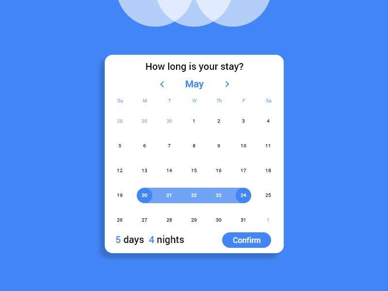 Daily UI #80 - Date Picker mobile adobe xd website web app flat ui design dailyui