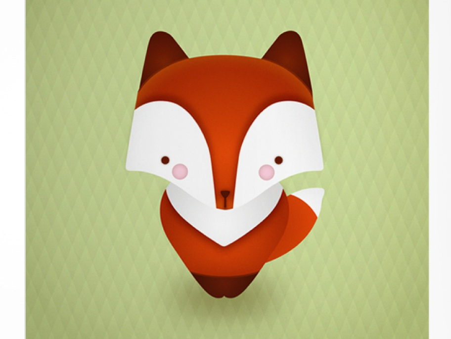 Illustration Fox kawaii nature kids book kids animal red vector art vector fox illustrator