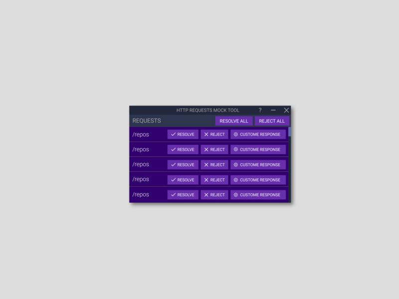 HTTP responses control desktop app UI