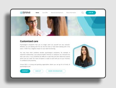 Concept site UI design