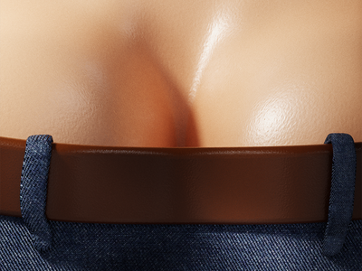 36 days of type - Y 36 days of type typography 36daysoftype sweat wet brown belt skin denim jeans butt cheeks