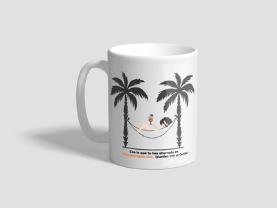 illustration for print on the mug