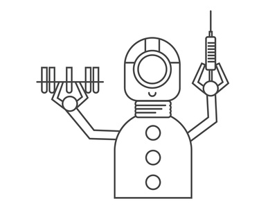 Robot Doctor science robotic robot outline lmedicine laboratory assistant lab icon hospital help health future engineering electronics industry domestic life doctor clinic care automation artificial