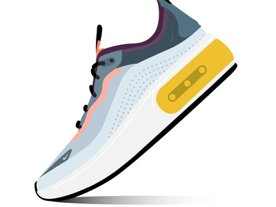 Nike Air Max Dia SE QS Sneaker,  Shoe Illustration