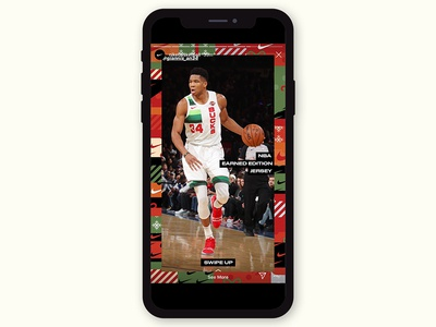 Nike NBA, Instagram Story Illustrations & Template