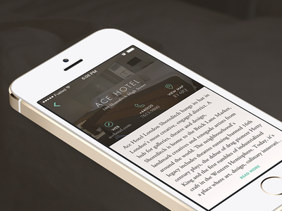 Travel App – Hotel Profile garamond futura app ios7 ios travel itinerary hotel