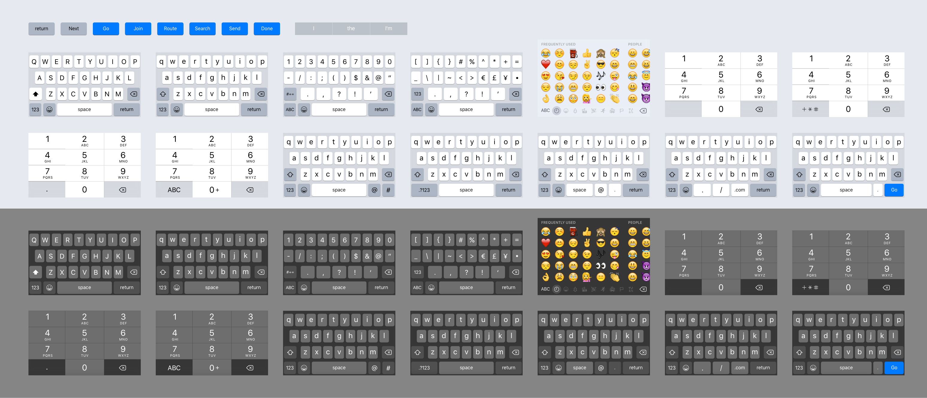 All keyboards
