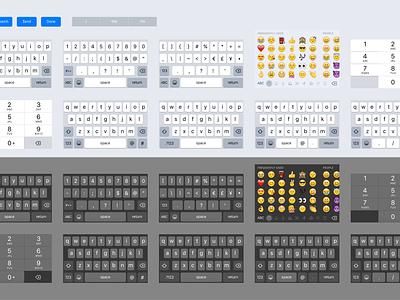 iOS 9 Sketch Keyboard Kit iphone 6 iphone resource download number pad numpad keyboards keyboard ui kit ui sketch ios