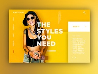 Pacsun Landing Page Mock Up
