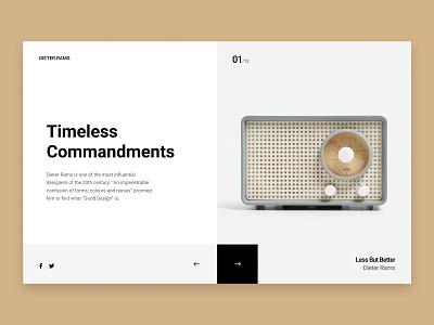 Dieter Rams: Timeless Commandments for Good Design figma 10 princeples braun dieter rams