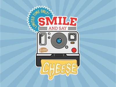 Smile And Say Cheese branding vector illustration icon flat design