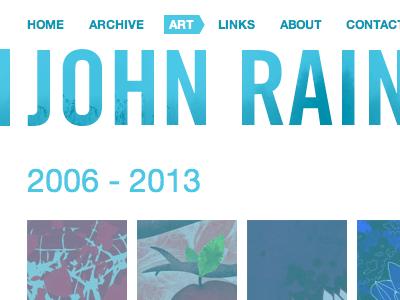 New website johnrainsford.com new 2013