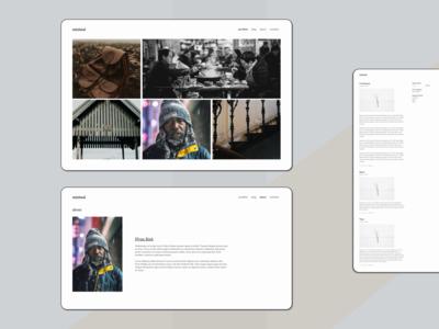minimal blog ui minimal figma website ux landing web design