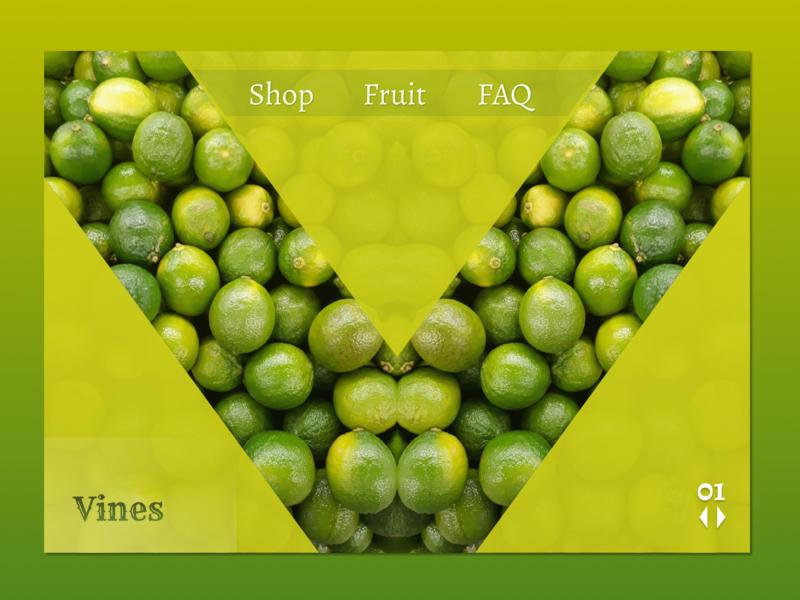 Vines minimal website figma landing web ux design