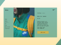 Nike Product Page (Green)