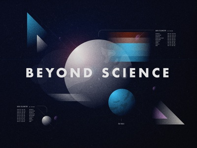 Beyond Science texture grain gradient discovery channel moon planet telemetry date sciencefiction science space exploration retro design geometry color illustration illustrator