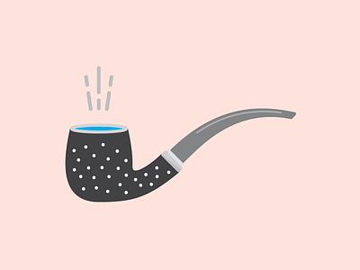 Pipe polka dots blue pink pipe illustrator illustration
