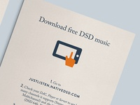 Illustrated Flyer for Native DSD