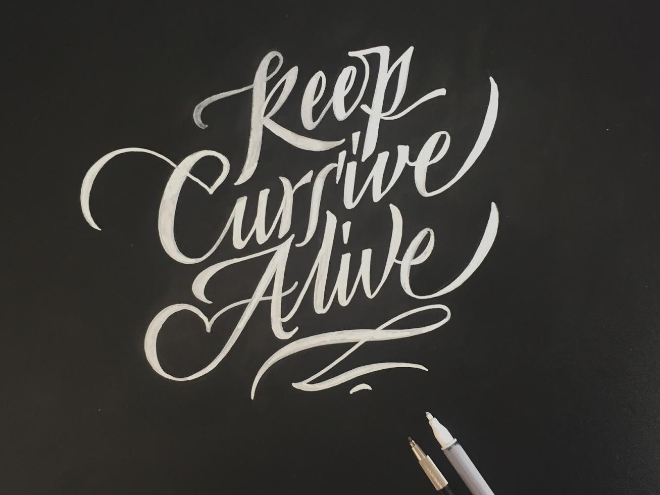 Keep cursive alive cursive design font logo typography lettering