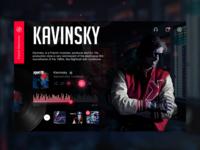 Kavinsky Nightcall Web Prototype