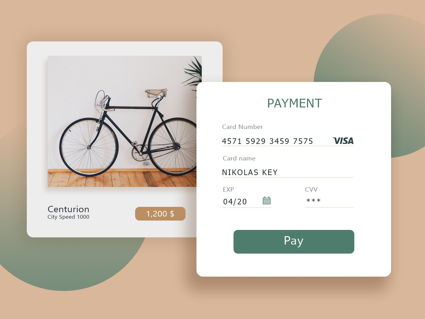 Daily UI Challenge #002 - Credit Card Checkout ui design desktop design daily 100 challenge 100 daily ui