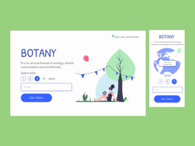 Botany festival concept