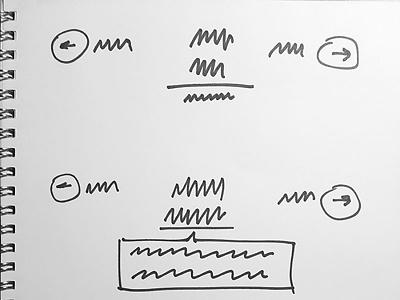 Date navigation sketch ui