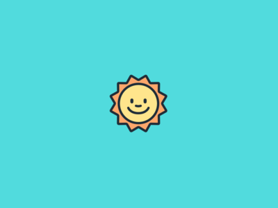 Hello Weather weather icon face smiling sun