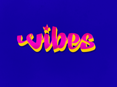 Vibes 3d shadow rolling paper berner the big pescado wait for it star sign illustration typography cookies vibes