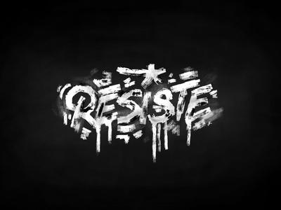 Résiste apparemment bio clothing lifestyle résistance brandname texturedesign stuffed typography blackandwhite resisteparis résiste