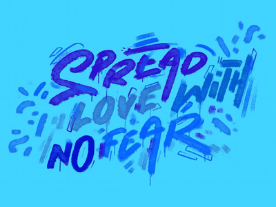Spread love with no fear merchandising typography custom goods teepublic art for sell shop online challenging times covid fight for your rights wealth healthcare share happiness motivational quote no fear spread love